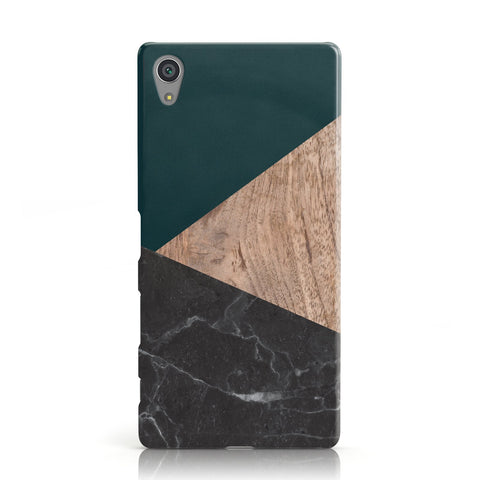 Marble Wood Geometric 6 Sony Xperia Case