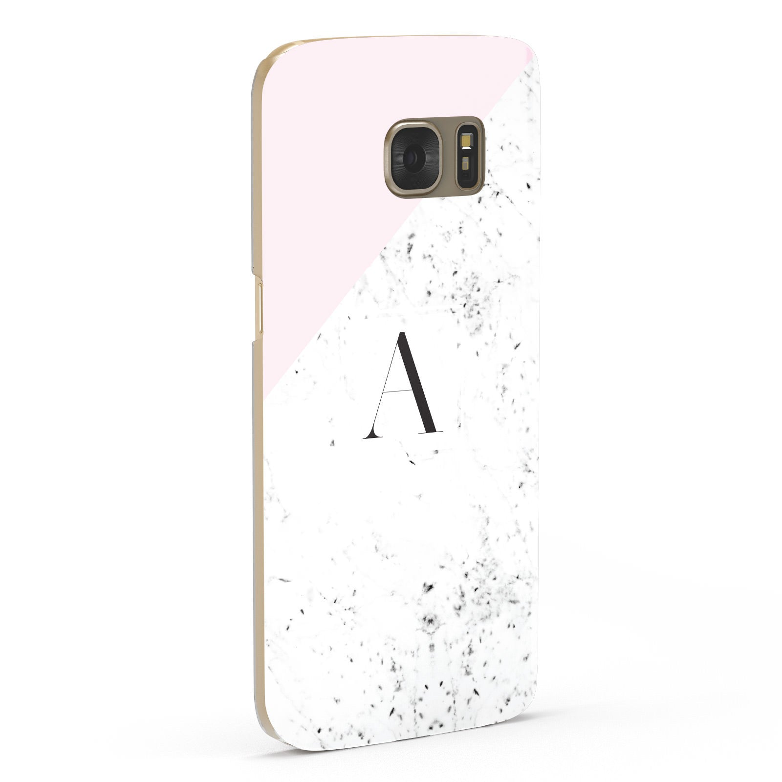 Personalised Monogram Initial Letter Marble Samsung Galaxy Case Fourty Five Degrees