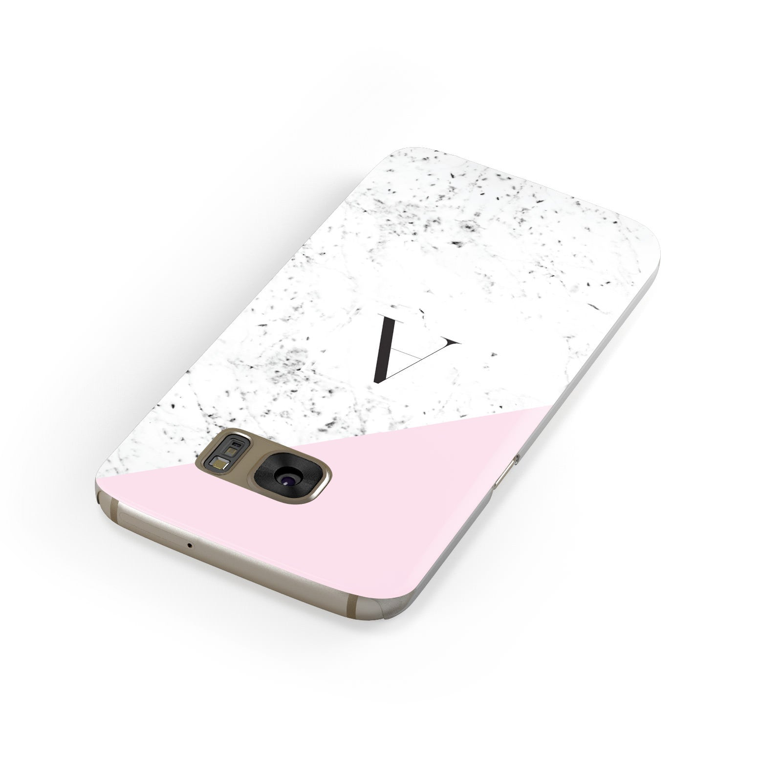 Personalised Monogram Initial Letter Marble Samsung Galaxy Case Front Close Up