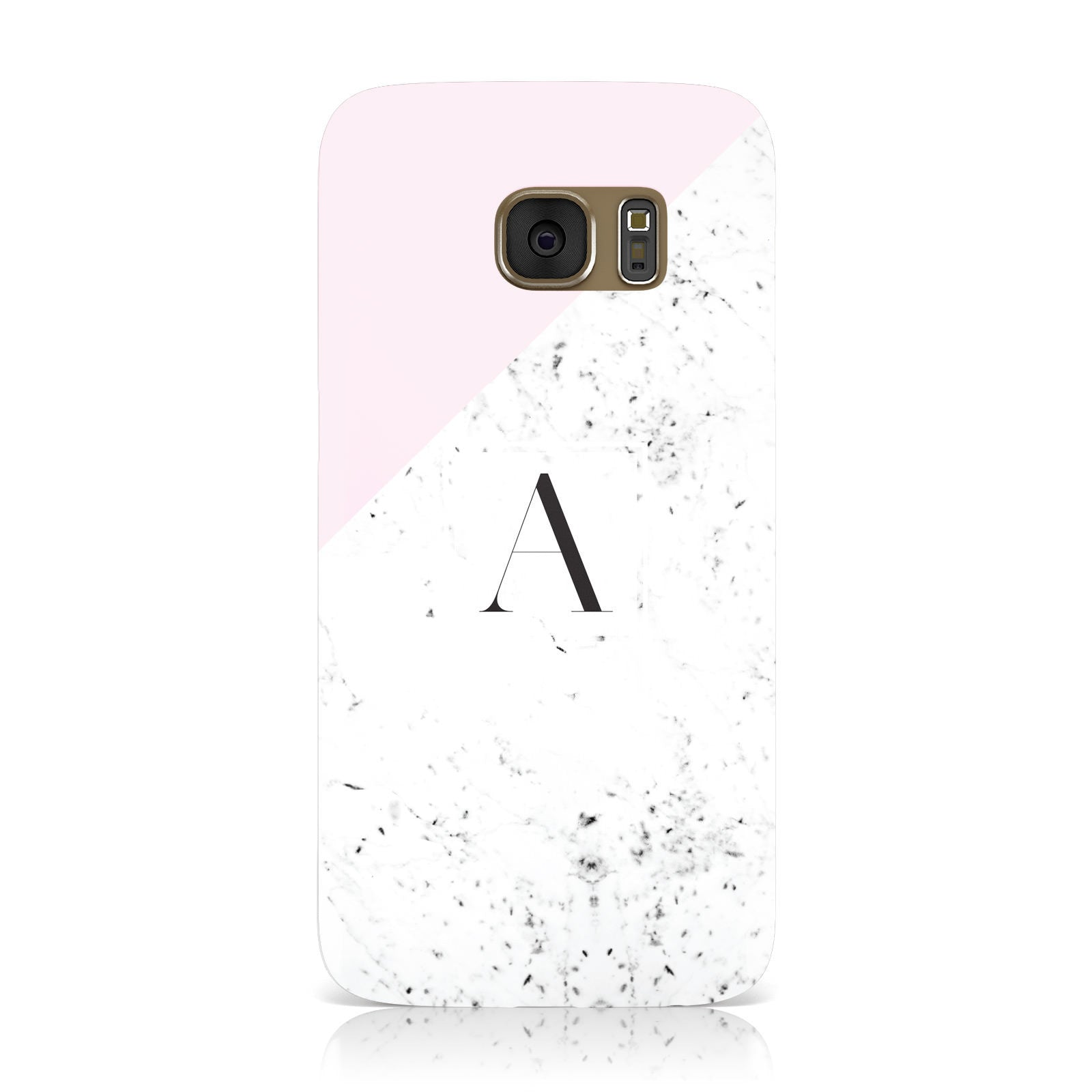 Personalised Monogram Initial Letter Marble Samsung Galaxy Case