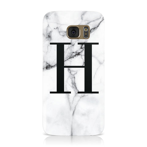 Personalised Monogram Marble Initial Samsung Galaxy Case