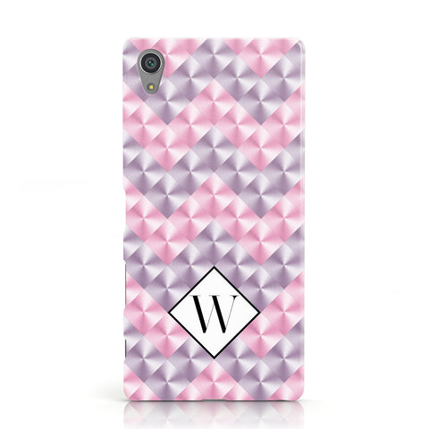 Personalised Mother Of Pearl Monogram Letter Sony Xperia Case
