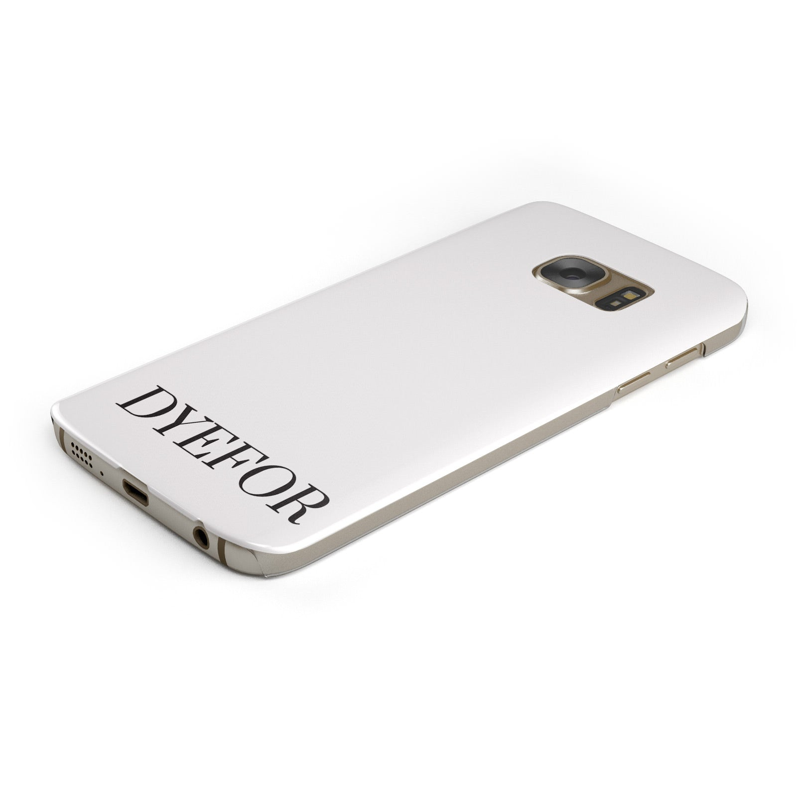 Name Personalised White Samsung Galaxy Case Bottom Cutout