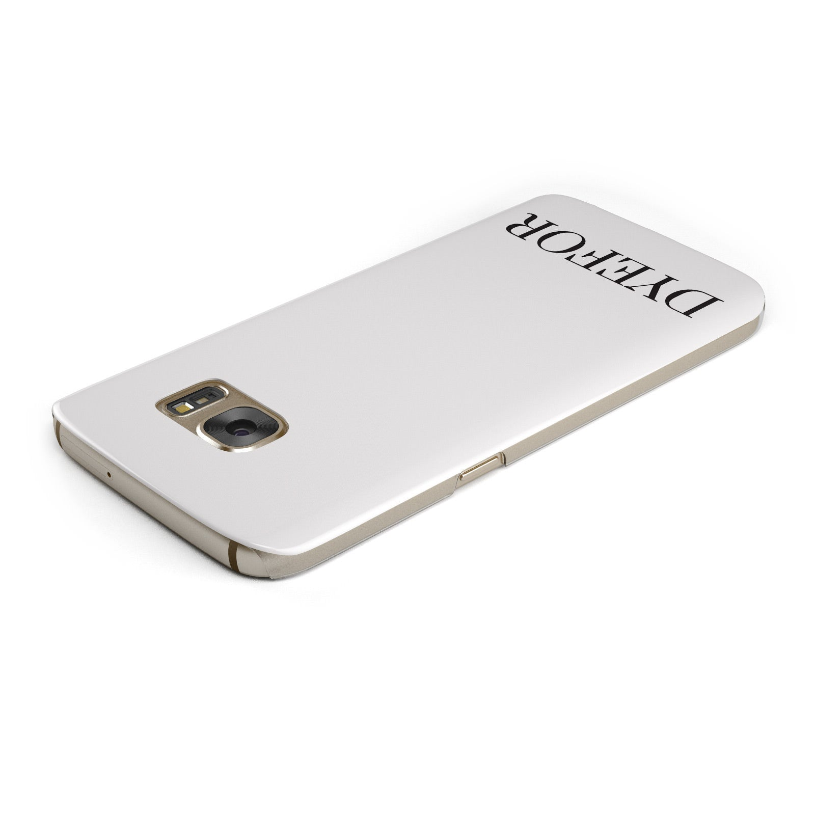 Name Personalised White Samsung Galaxy Case Top Cutout