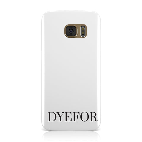 Name Personalised White Samsung Galaxy Case