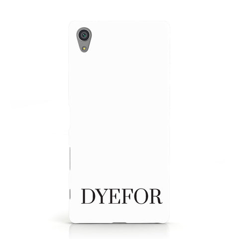 Name Personalised White Sony Xperia Case
