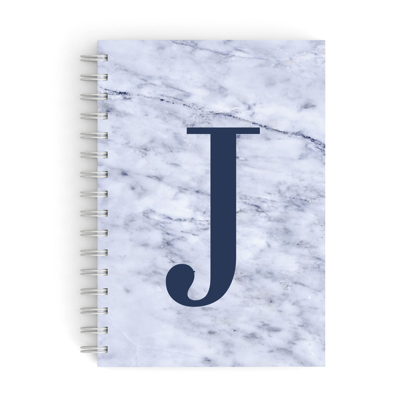 Navy Blue Single Initial A5 Hardcover Notebook