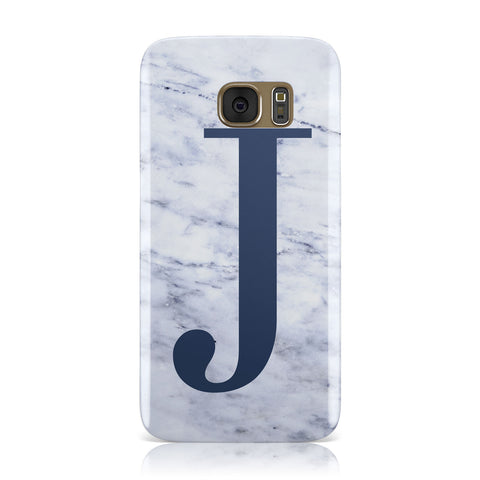 Navy Blue Single Initial Samsung Galaxy Case