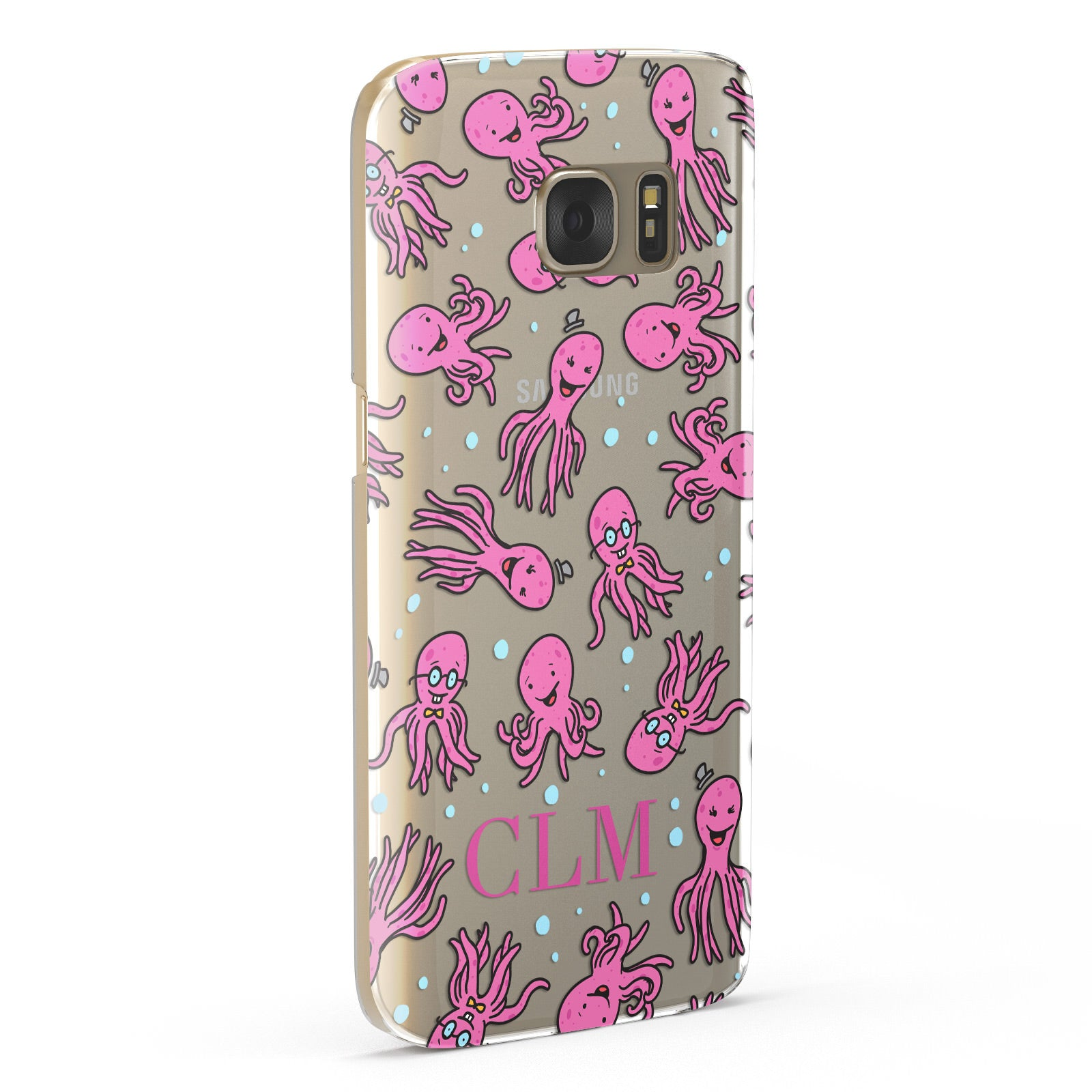 Personalised Octopus Initials Samsung Galaxy Case Fourty Five Degrees