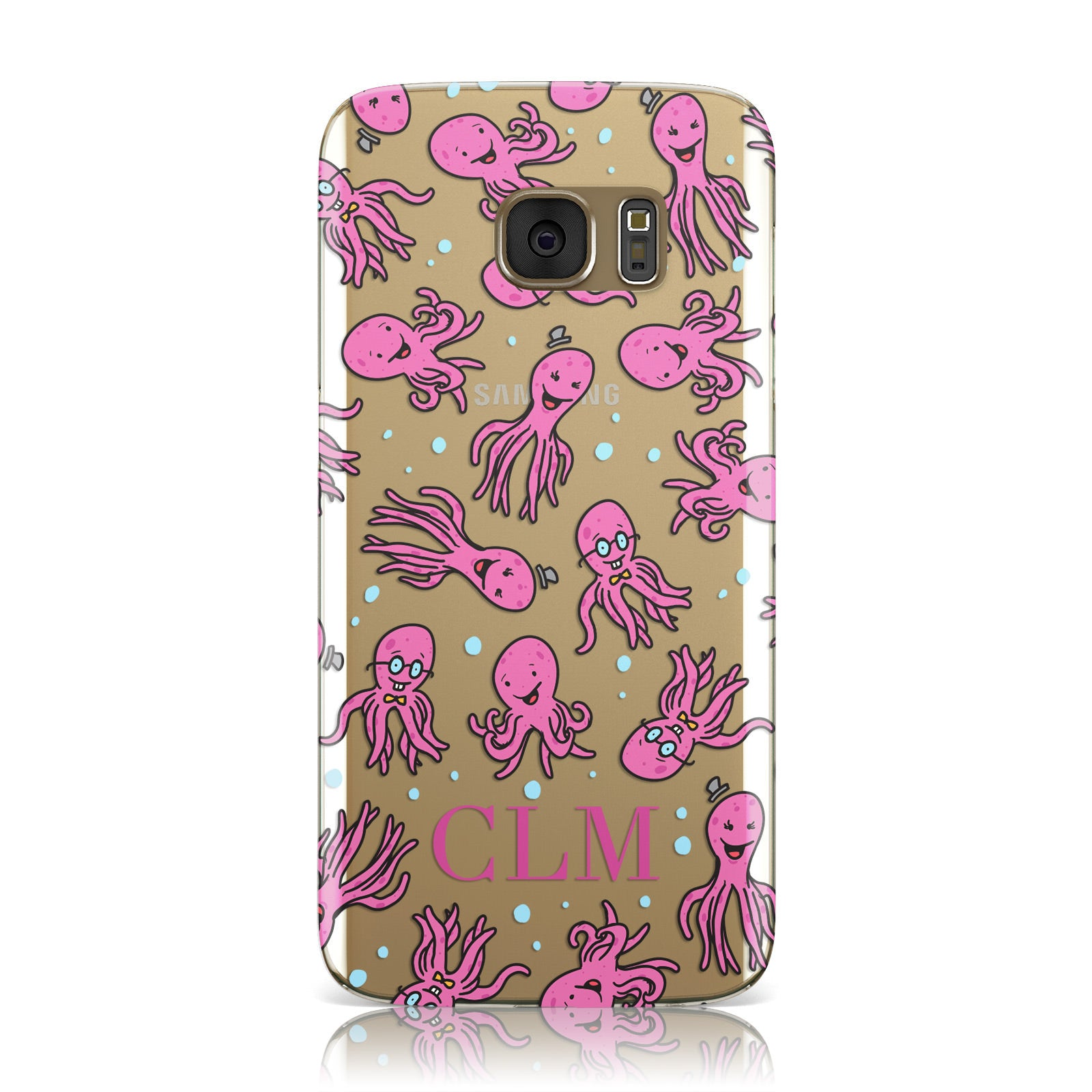 Personalised Octopus Initials Samsung Galaxy Case