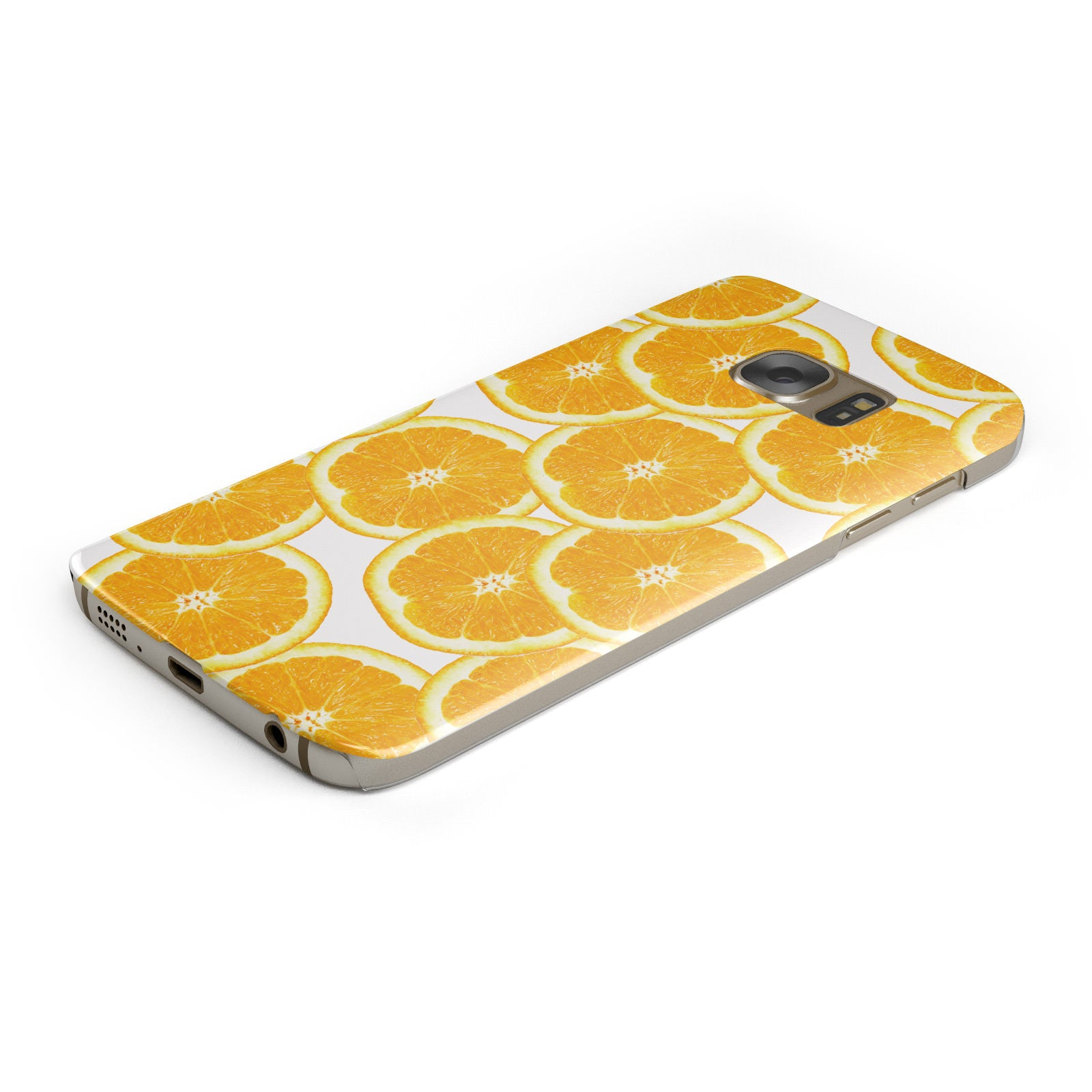 Orange Fruit Slices Samsung Galaxy Case Bottom Cutout
