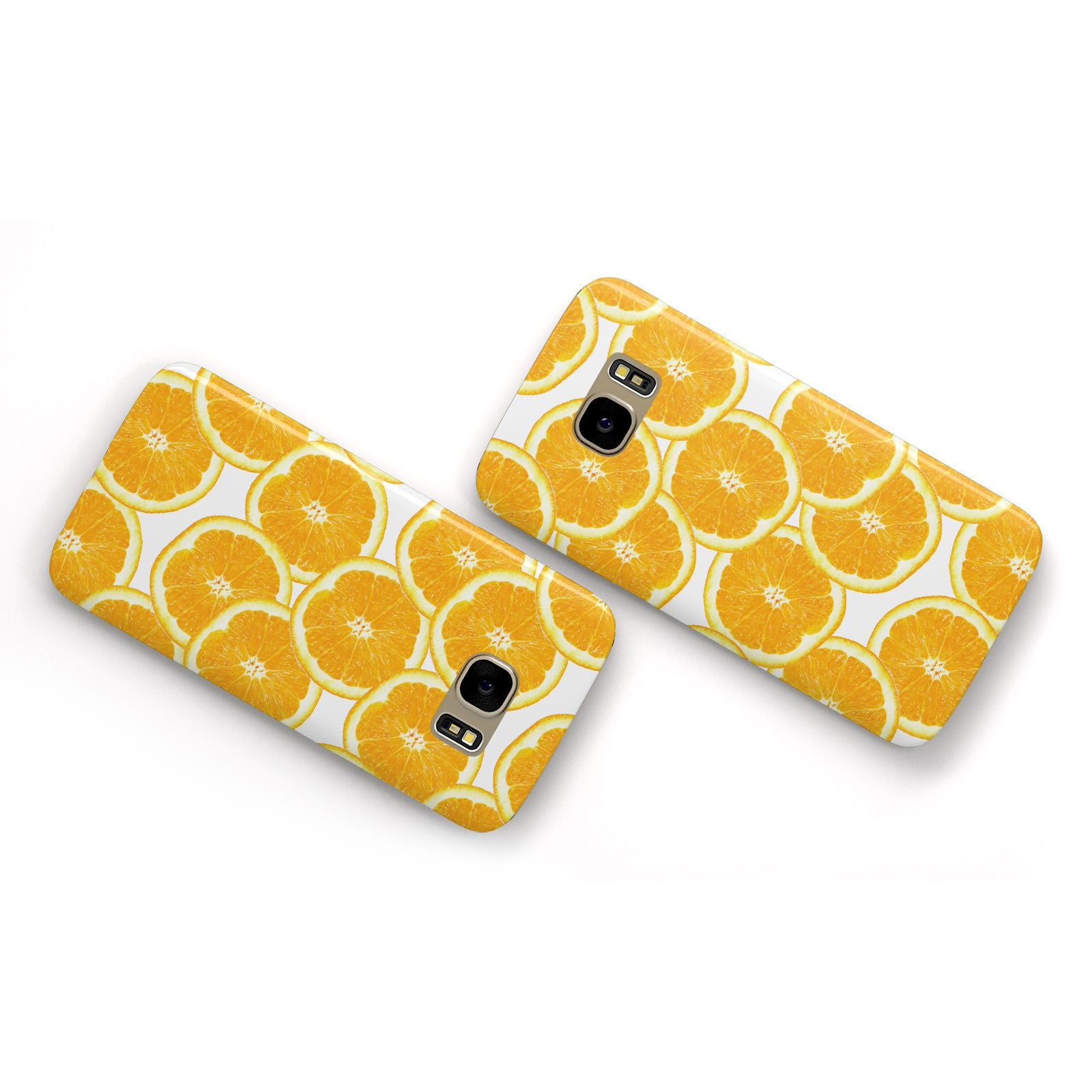 Orange Fruit Slices Samsung Galaxy Case Flat Overview