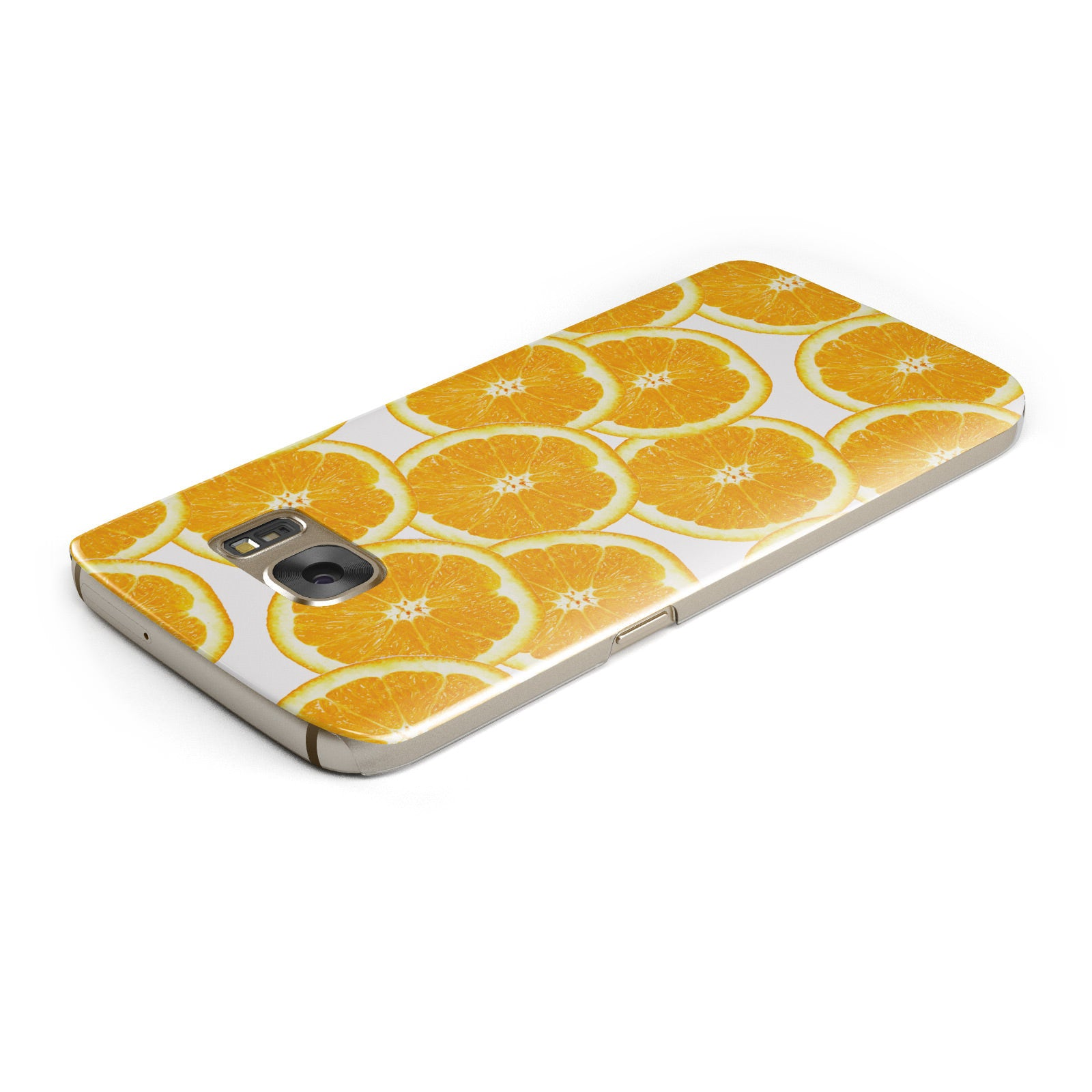 Orange Fruit Slices Samsung Galaxy Case Top Cutout