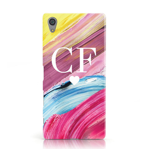 Personalised Paint Brush & Initials Sony Xperia Case