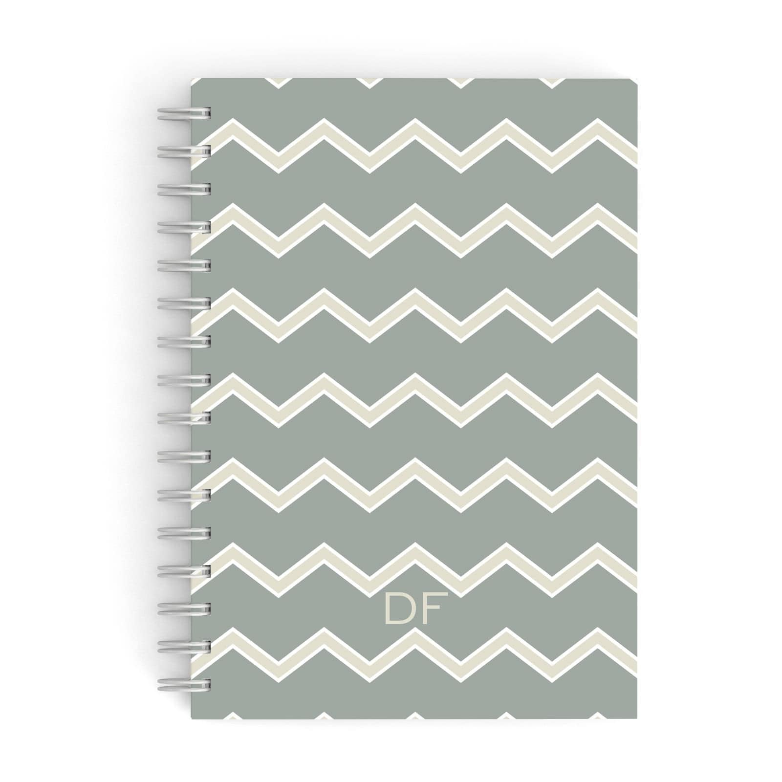 Personalised 2 Tone Chevron A5 Hardcover Notebook