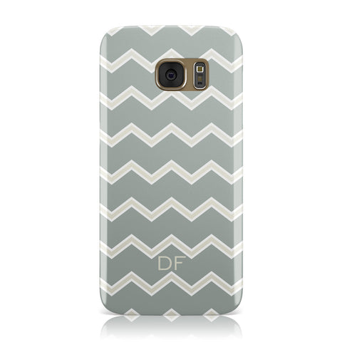 Personalised 2 Tone Chevron Samsung Galaxy Case