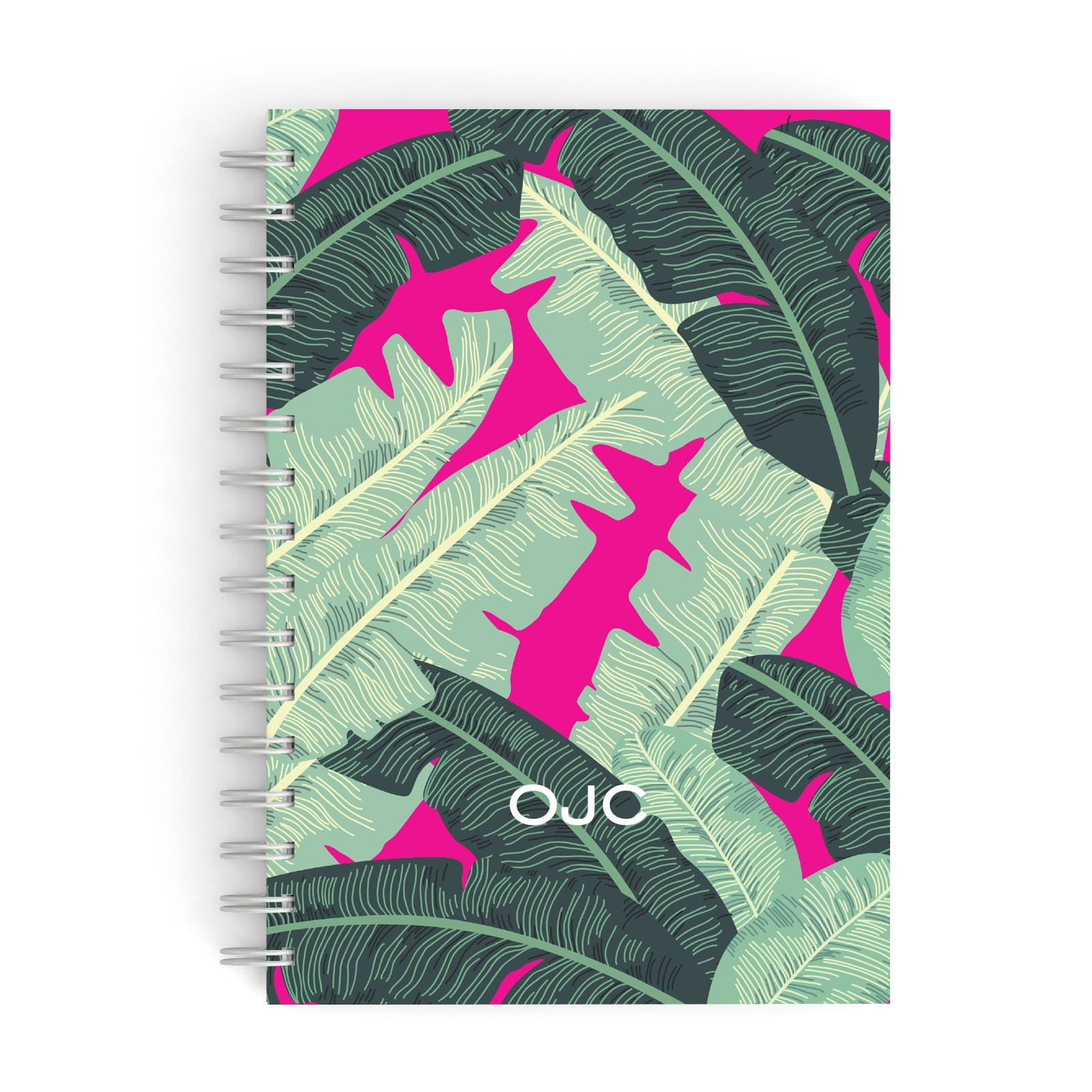 Personalised Banana Leaves A5 Hardcover Notebook