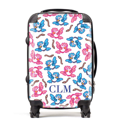 Personalised Birds Initials Suitcase