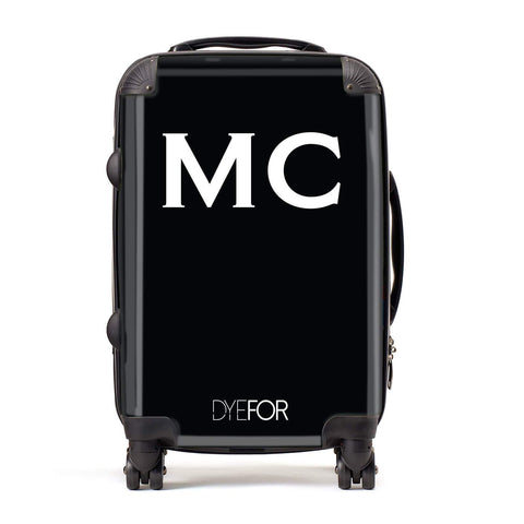 Personalised Black Initial Suitcase