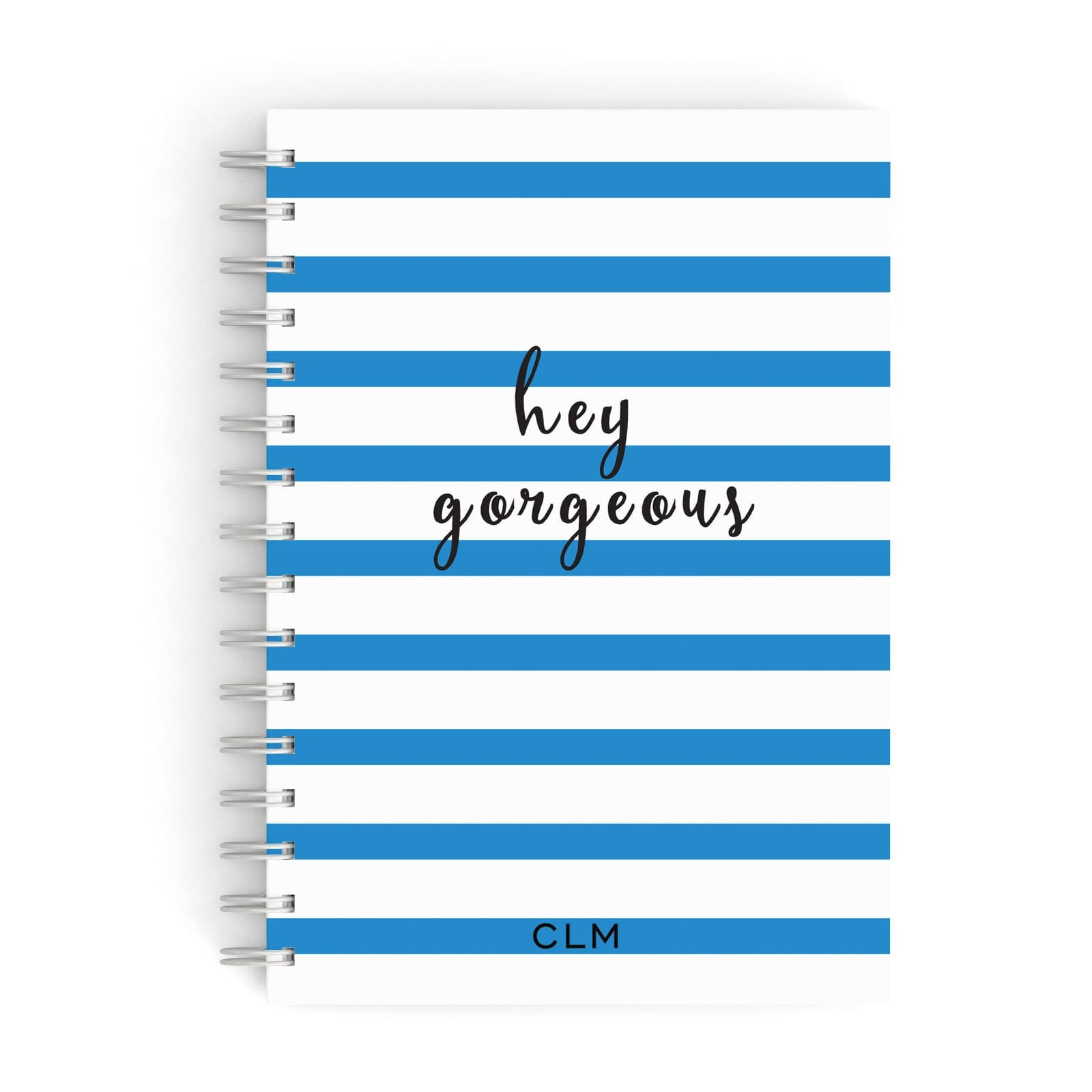 Personalised Blue Hey Gorgeous A5 Hardcover Notebook
