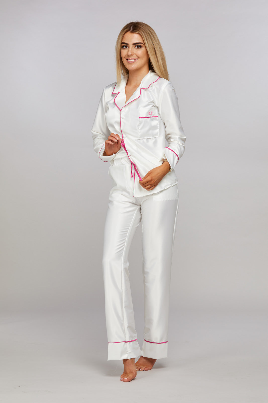 Personalised White Hen Party Pyjamas