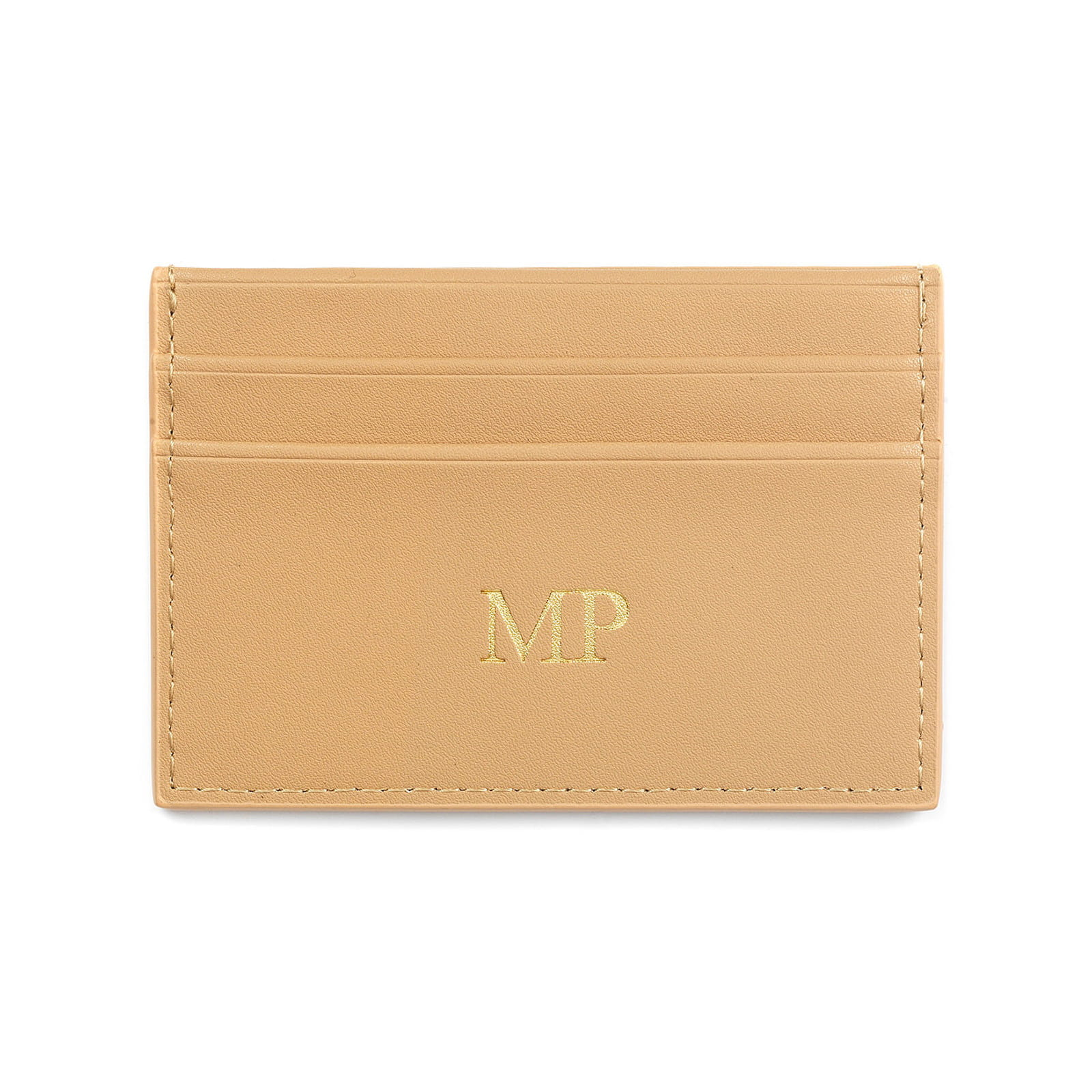 Personalised Caramel Smooth Leather Card Holder