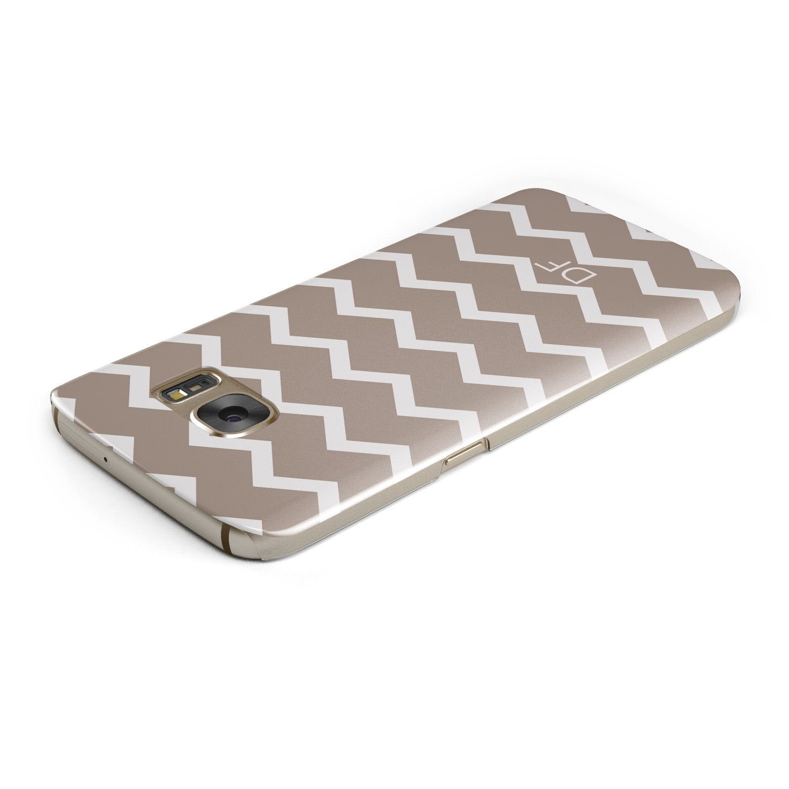 Personalised Chevron Beige Samsung Galaxy Case Top Cutout