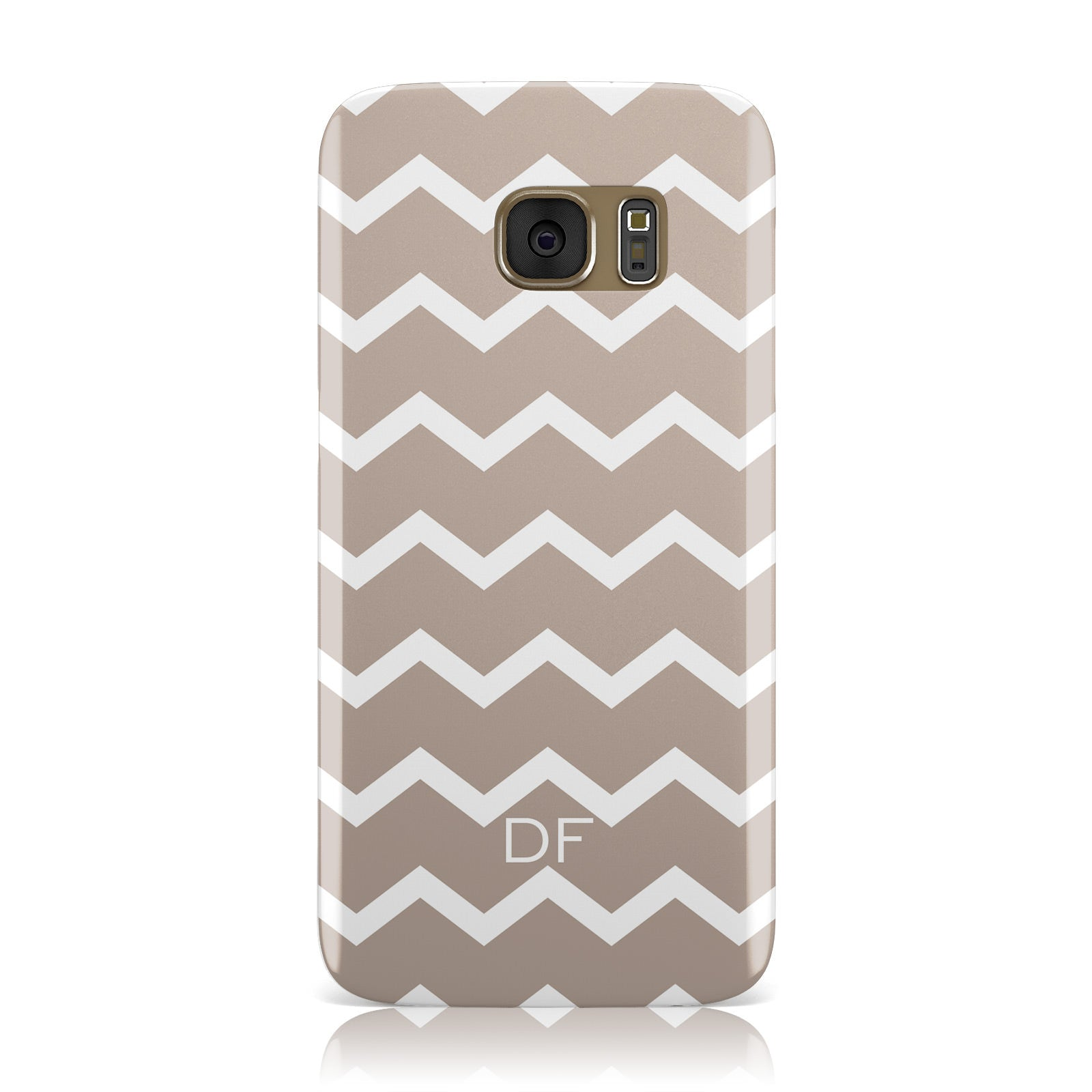 Personalised Chevron Beige Samsung Galaxy Case
