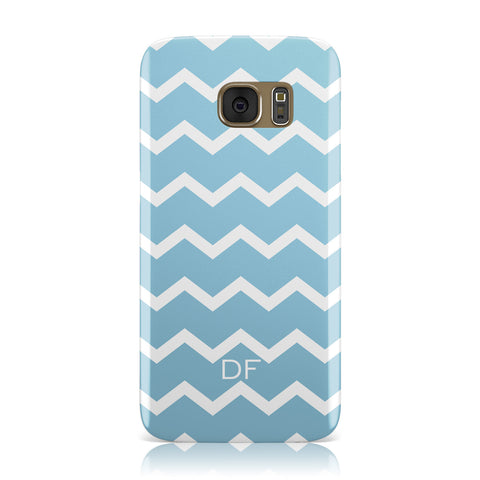 Personalised Chevron Blue Samsung Galaxy Case