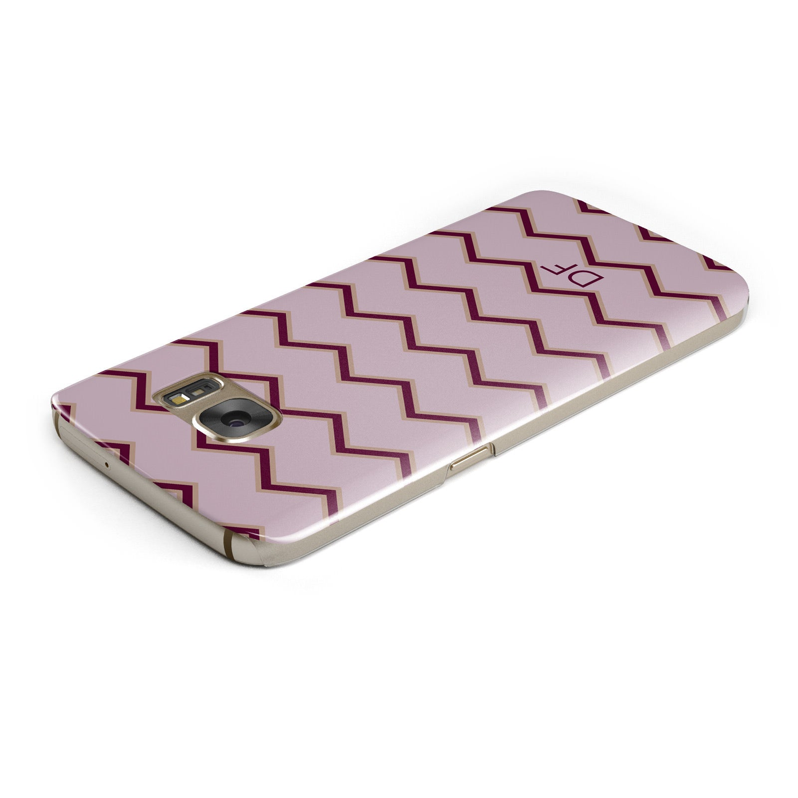Personalised Chevron Burgundy Samsung Galaxy Case Top Cutout
