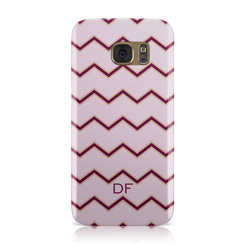 Personalised Chevron Burgundy Samsung Galaxy Case