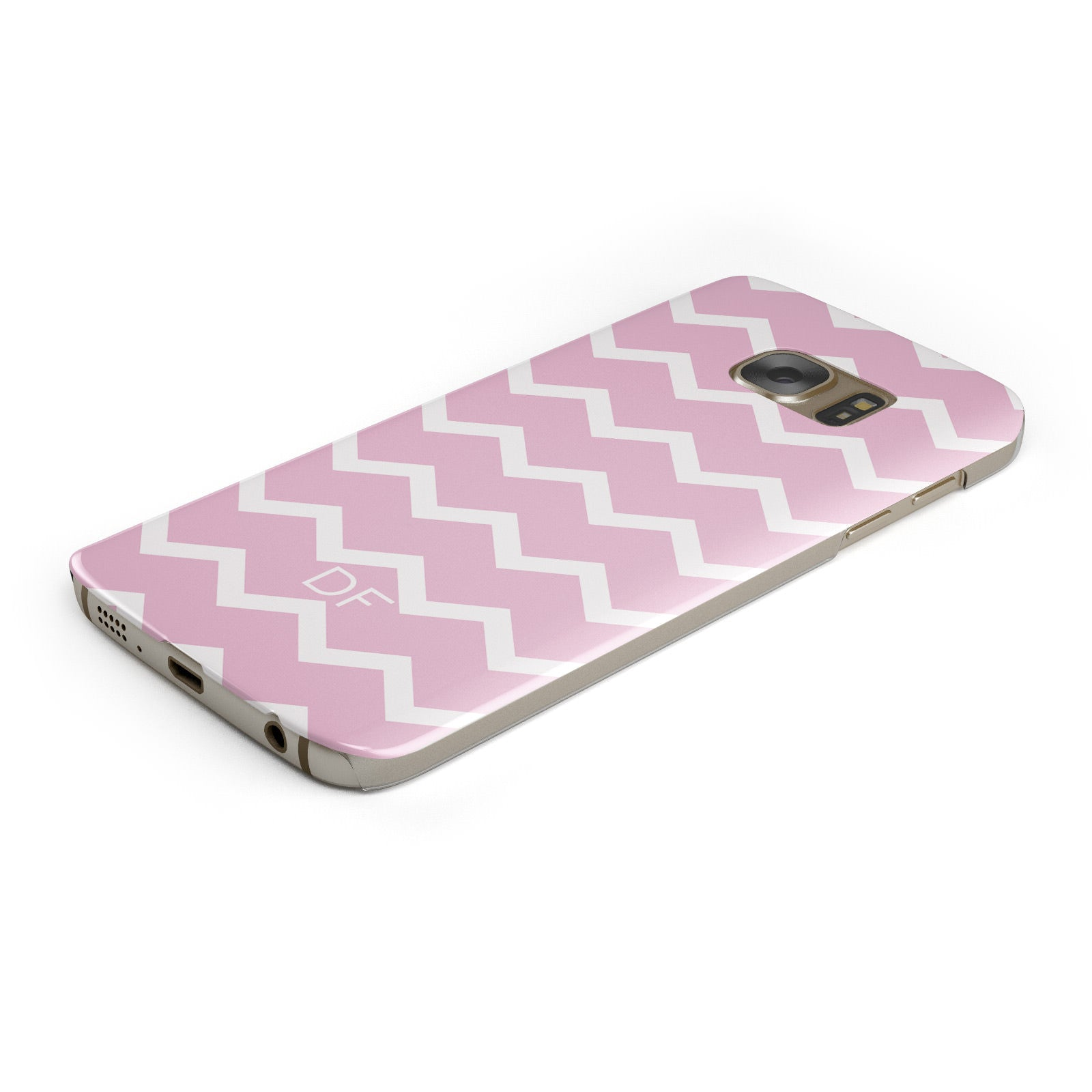 Personalised Chevron Pink Samsung Galaxy Case Bottom Cutout