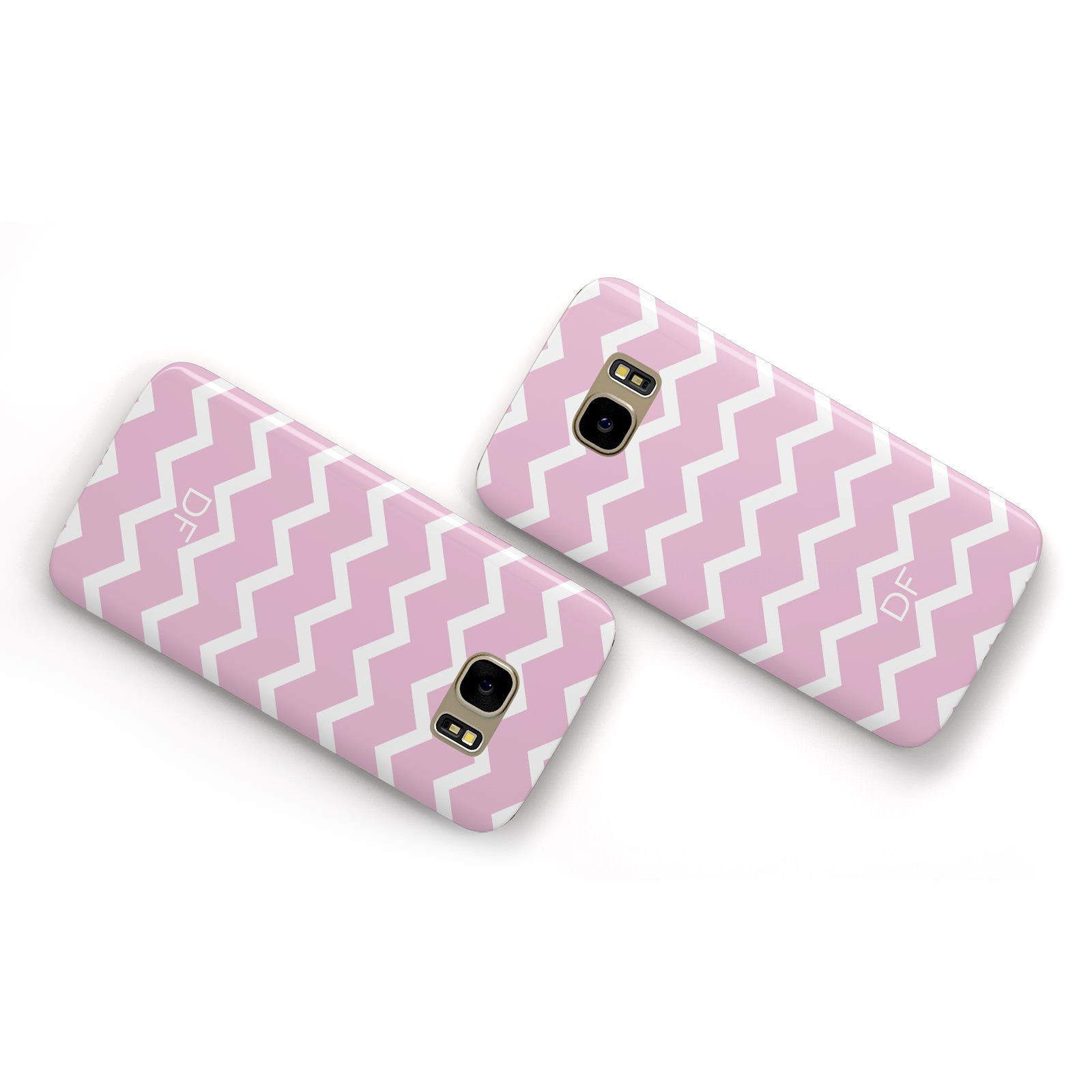 Personalised Chevron Pink Samsung Galaxy Case Flat Overview