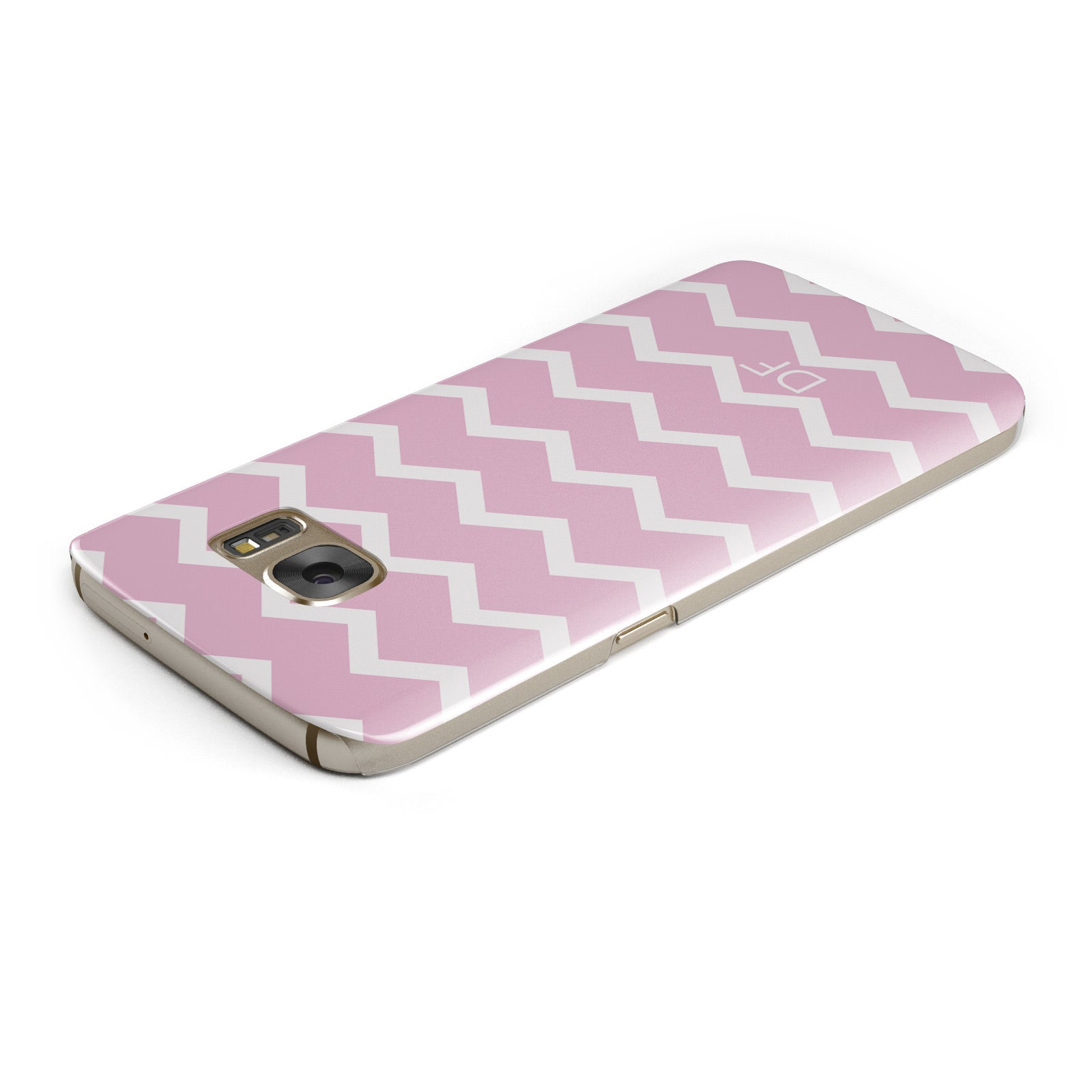 Personalised Chevron Pink Samsung Galaxy Case Top Cutout