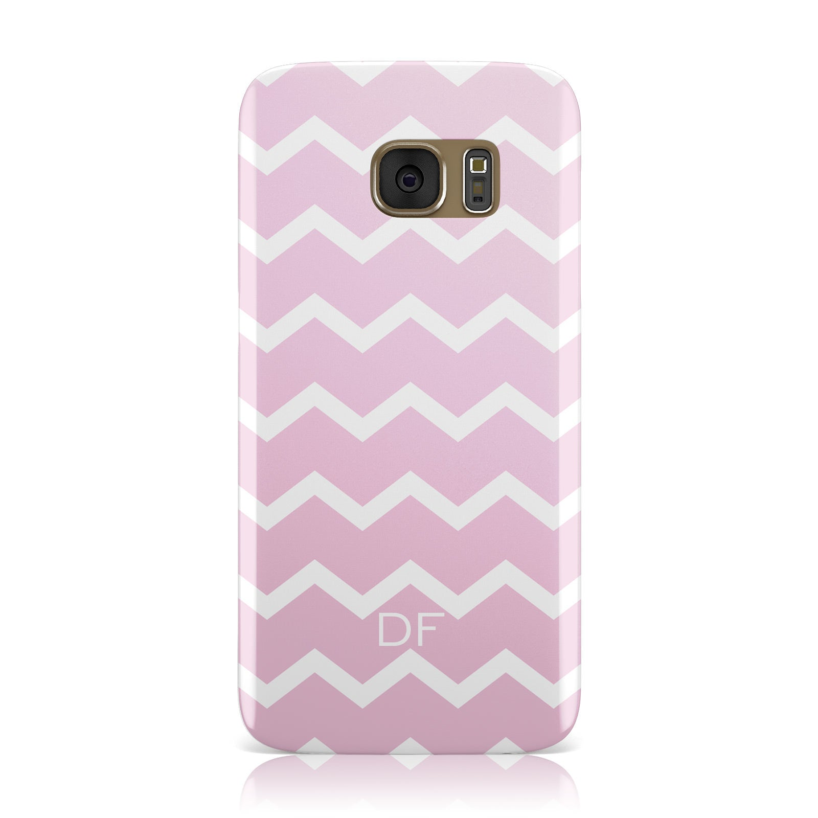 Personalised Chevron Pink Samsung Galaxy Case