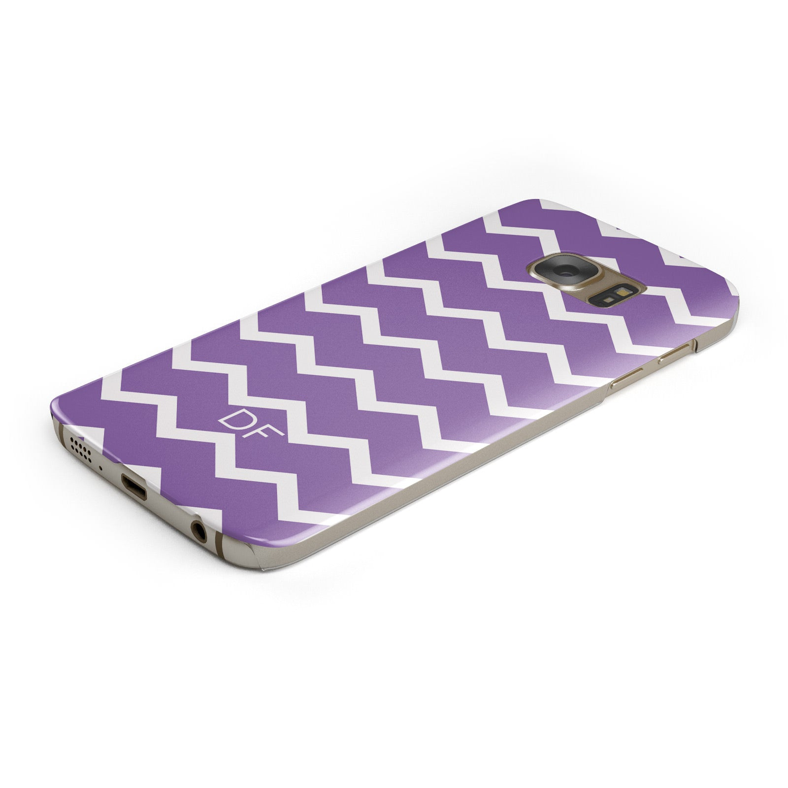 Personalised Chevron Purple Samsung Galaxy Case Bottom Cutout