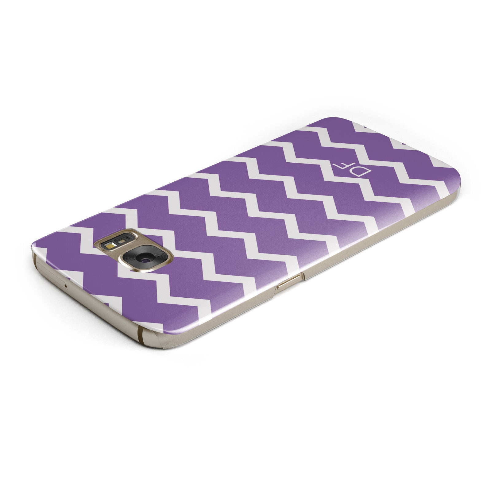 Personalised Chevron Purple Samsung Galaxy Case Top Cutout
