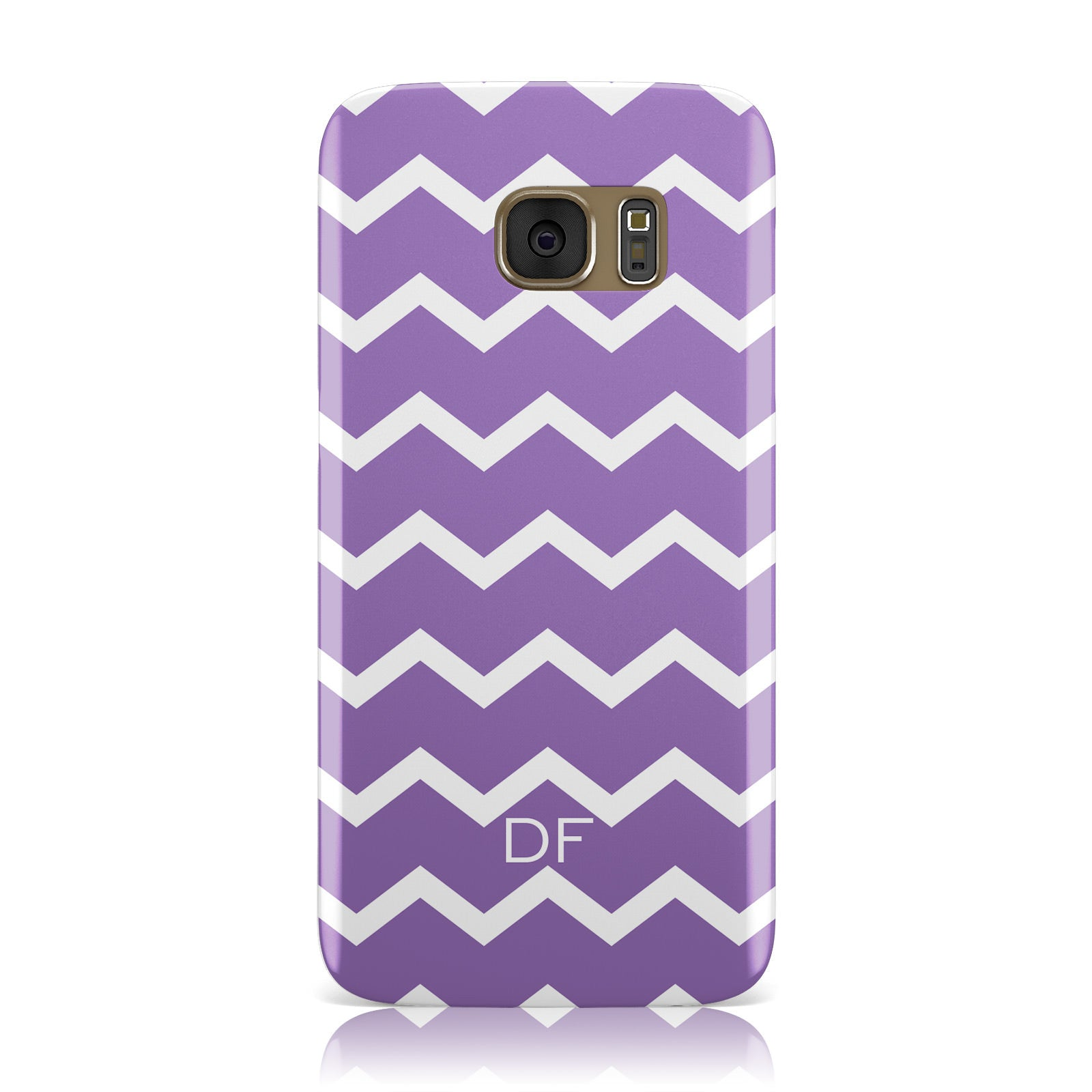 Personalised Chevron Purple Samsung Galaxy Case