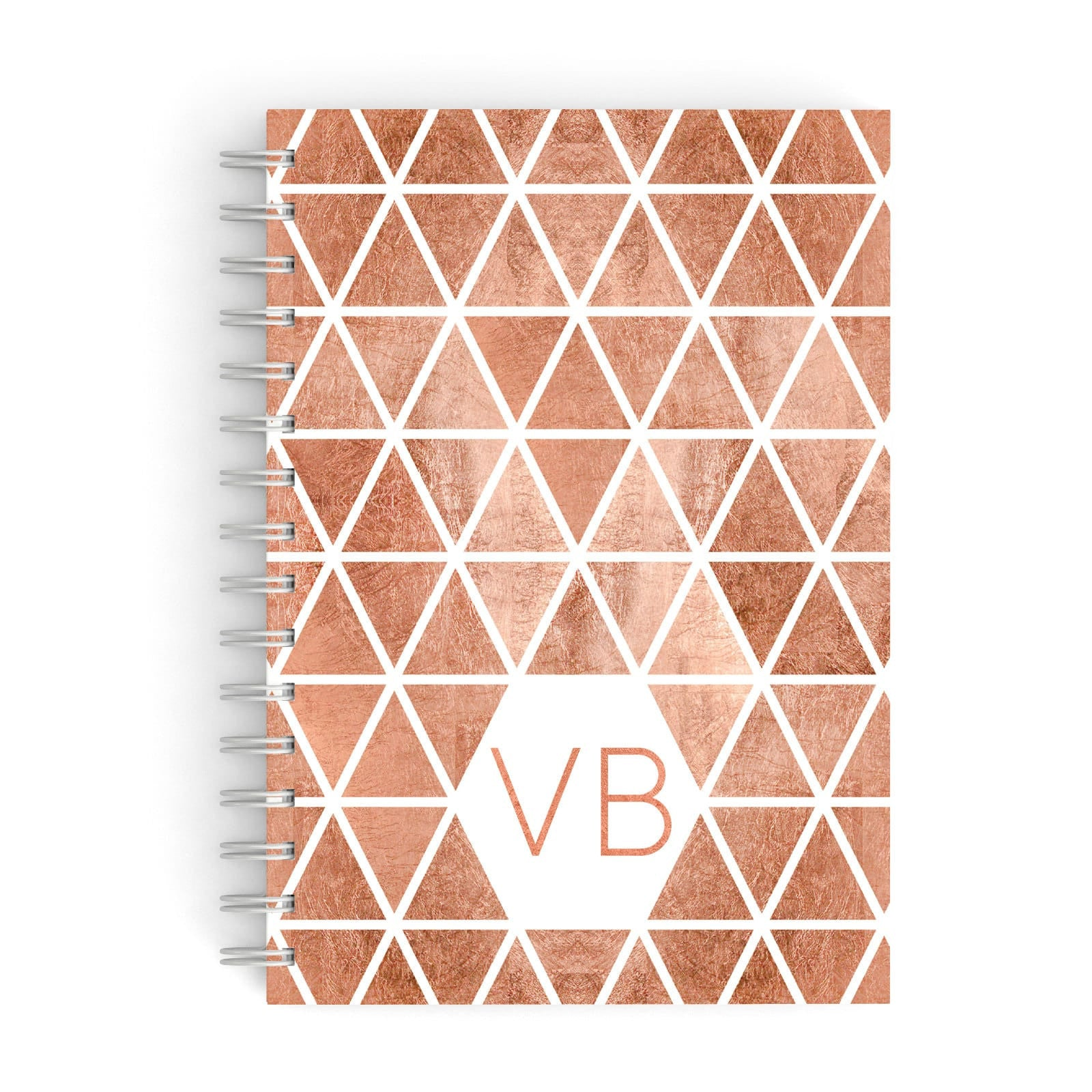Personalised Copper Initials A5 Hardcover Notebook