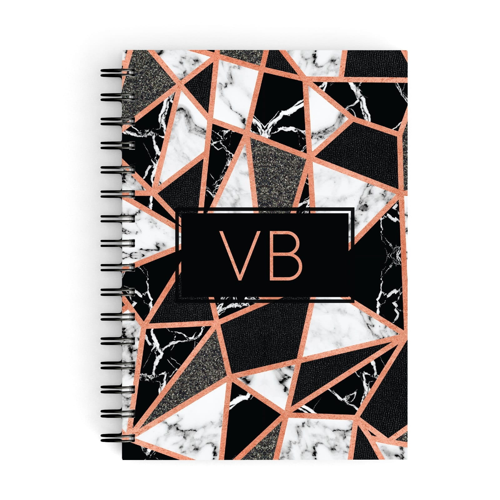 Personalised Copper Marble Initials A5 Hardcover Notebook