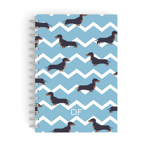 Personalised Dachshund A5 Hardcover Notebook