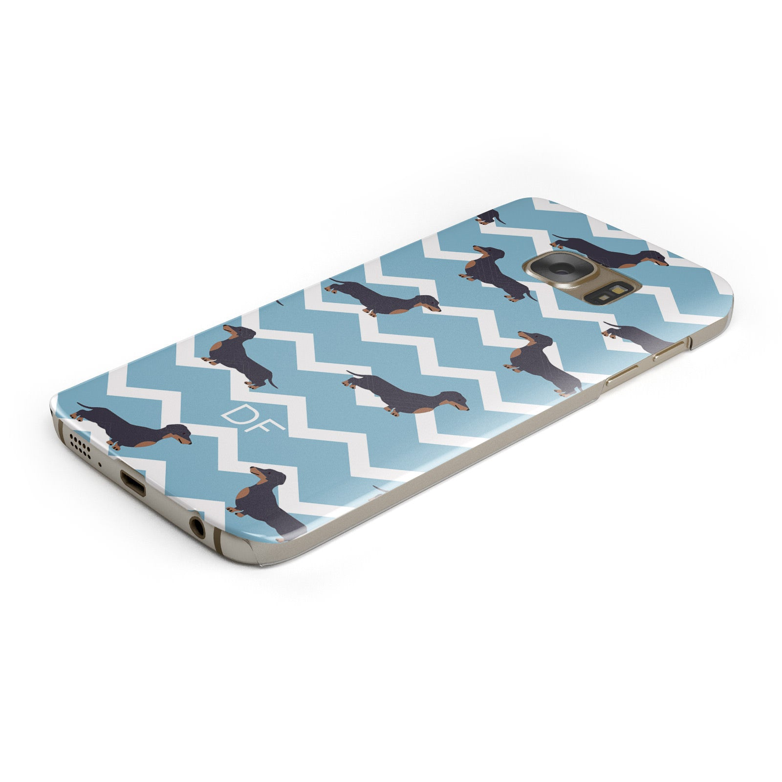 Personalised Dachshund Samsung Galaxy Case Bottom Cutout