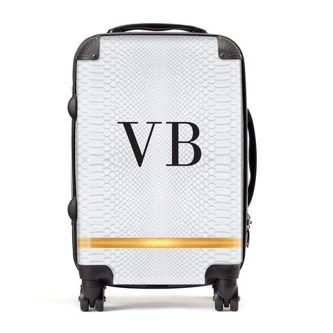 Personalised Faux Snakeskin & Initials Suitcase