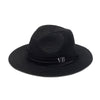 Personalised Black Straw Fedora Hat
