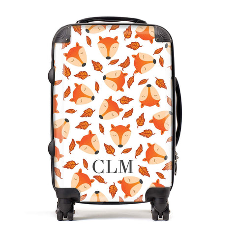 Personalised Fox Initials Suitcase