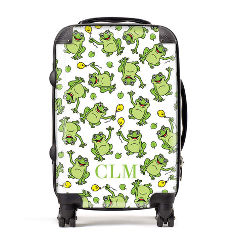 Personalised Frog Initials Suitcase