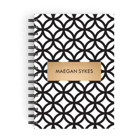 Personalised Geometric Name Or Initials Custom A5 Hardcover Notebook