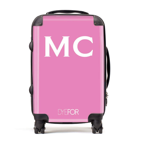 Personalised Hot Pink Initial Suitcase
