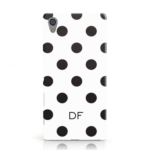 Personalised Initial Black Dots Sony Xperia Case