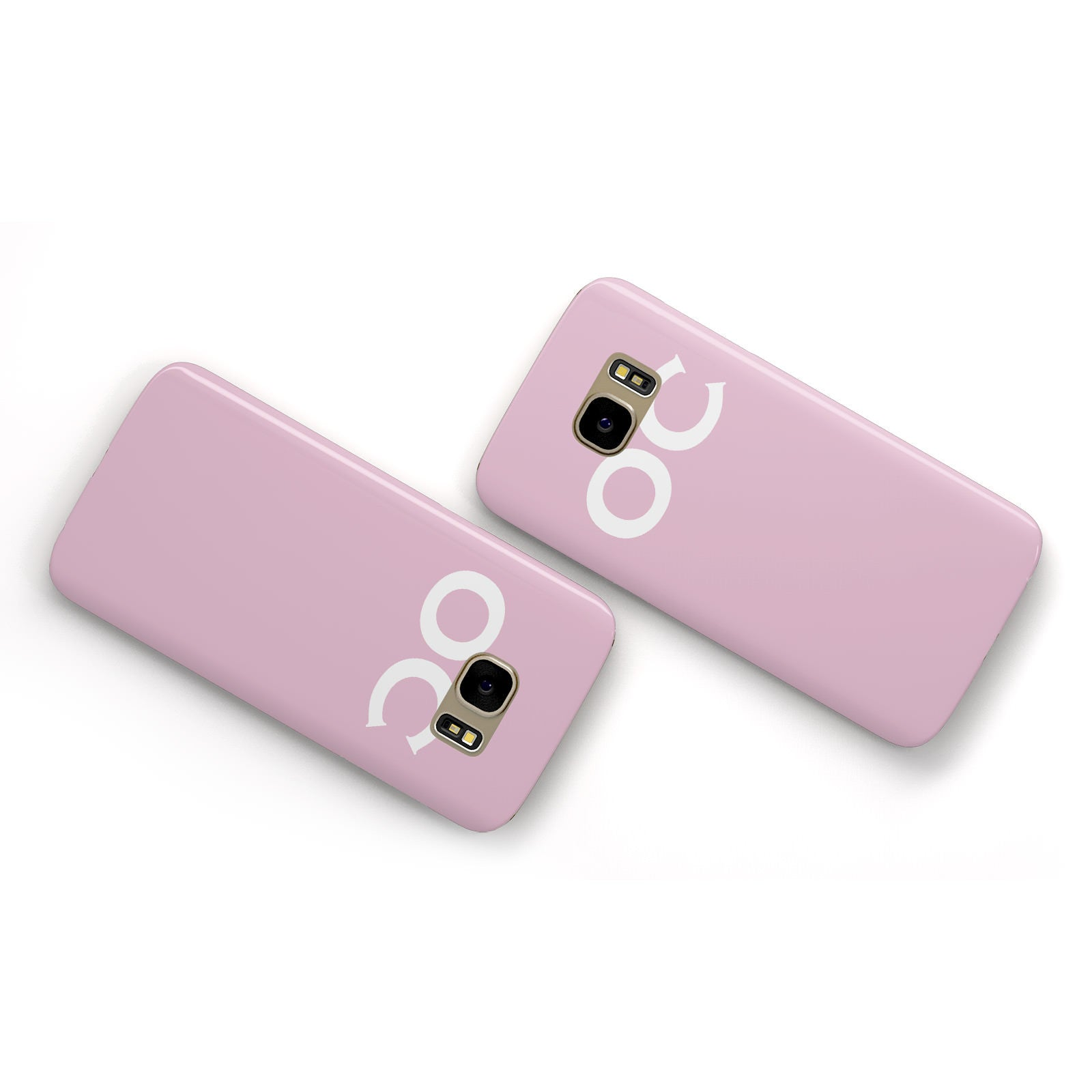 Personalised Initials 2 Samsung Galaxy Case Flat Overview